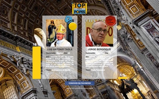 Homepage (from 13 to 25 march '13) [topofthepopes.com/habemus-papam]