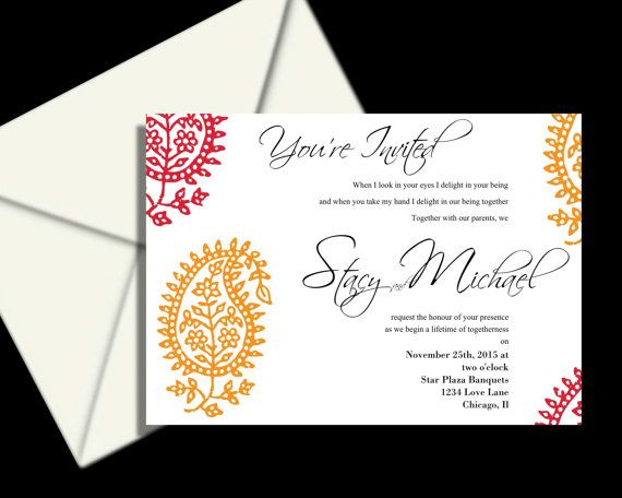 Wedding Invitations PRINTABLE DIY Colorful by LovableInvitations, $25.00