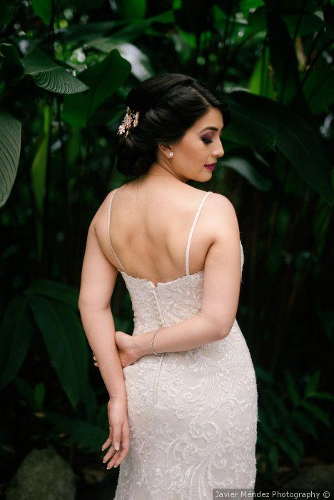 3b97f6cb3e4c Updo for wedding hairstyle - elegant wedding hairstyle for bride  Javier  Méndez Photography