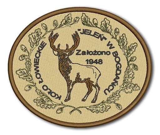 Naszywka Koło Łowieckie Jeleń w Bogdańcu Założono 1948