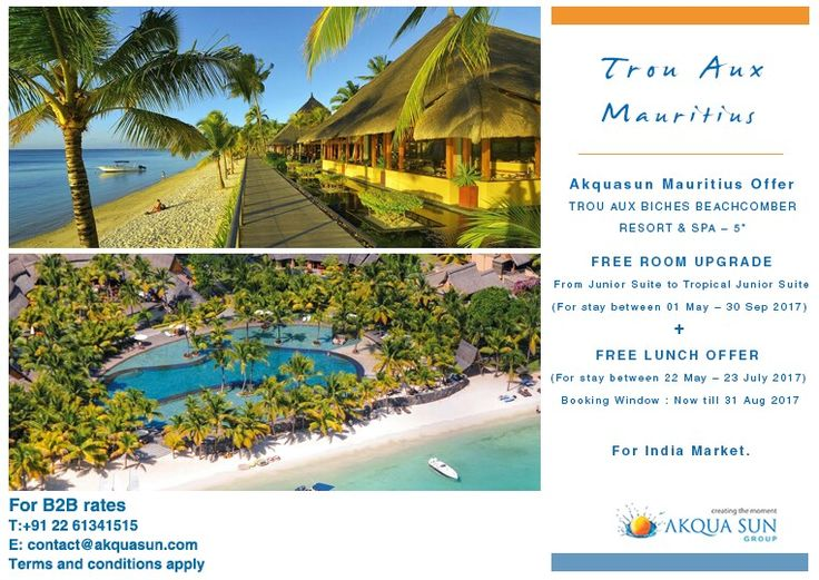 THE MOST ROMANTIC HOTEL IN MAURITIUS  A strip of white sandy beach, a turquoise lagoon with crystal-clear waters, a 35-hectare tropical garden...These are some of the timeless charms of Trou aux Biches Beachcomber Golf Resort & Spa, a luxury hotel in Mauritius.
