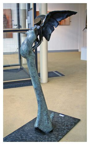 Lady Bird  / Bronze Sculpture by Corinna de Jong