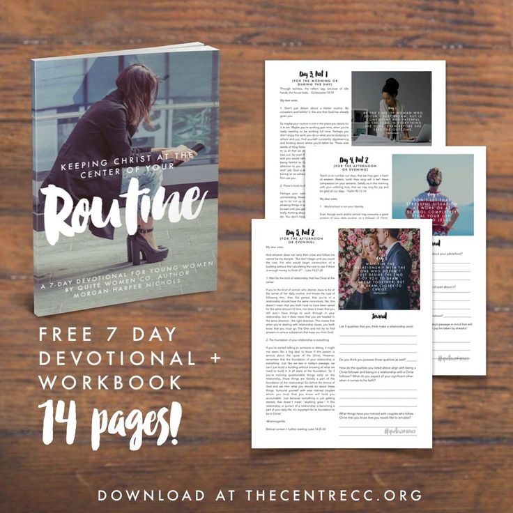 A free PDF 7 day devotional for young women great for