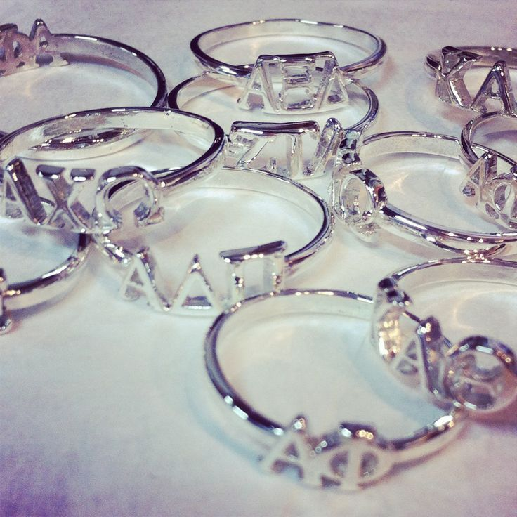 Greek Girl Shop Letter Rings (group order discounts available)