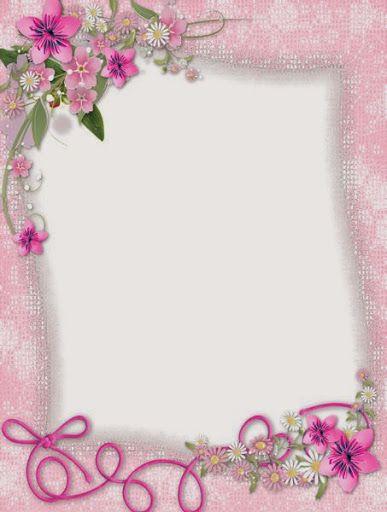 pretty pink border floral - photo #1