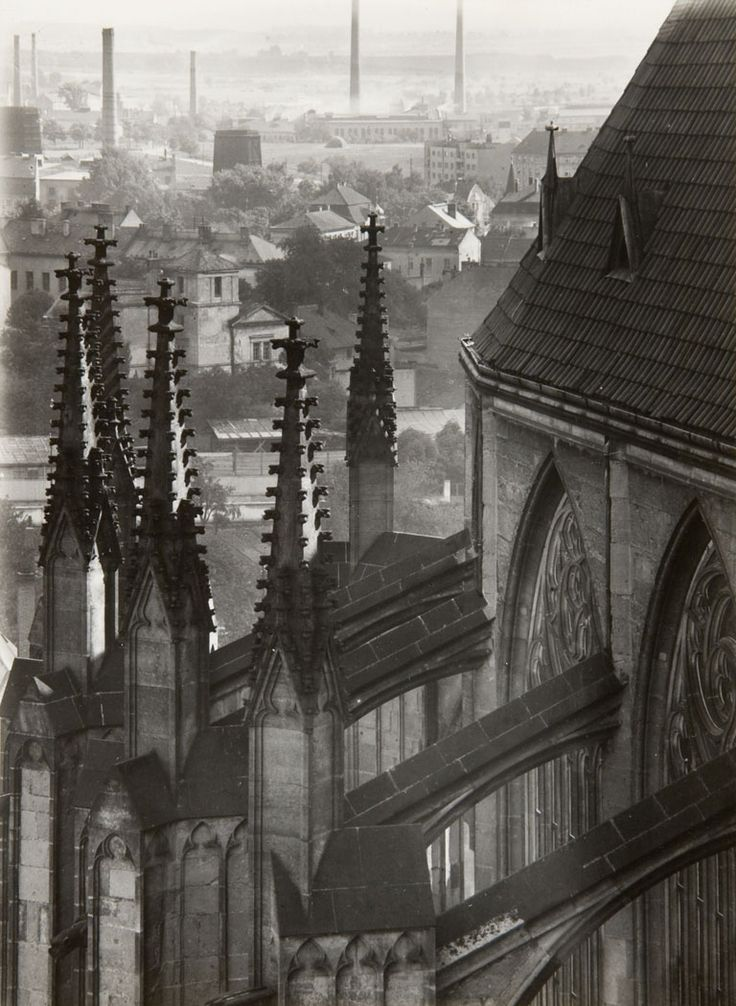 Jaromír Funke - Untitled, (Cathedral, Rooftops), n.d