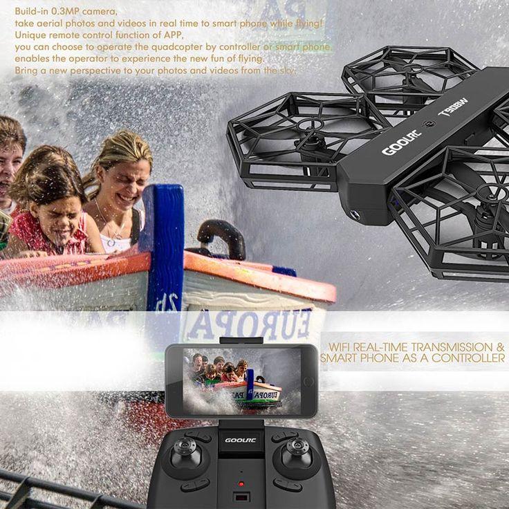 GoolRC T908W 0.3MP Camera Wifi FPV DIY Detachable Drone Sales Online black - Tomtop.com