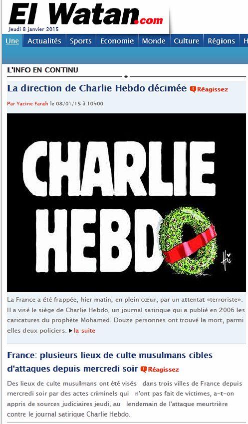 El Watan Charlie Hebdo