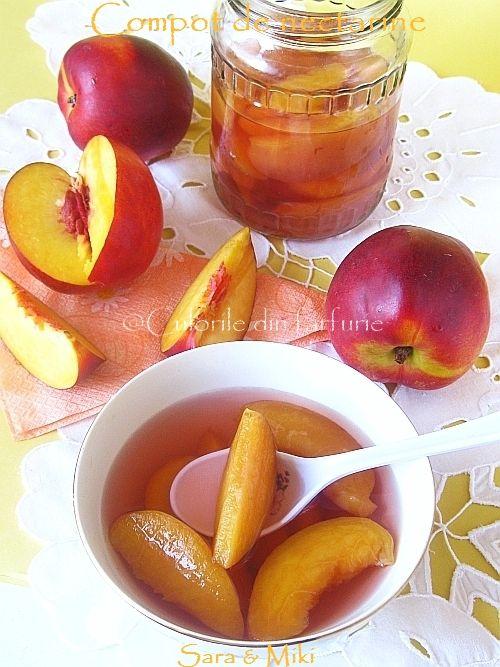 Culorile din farfurie: Compot de nectarine