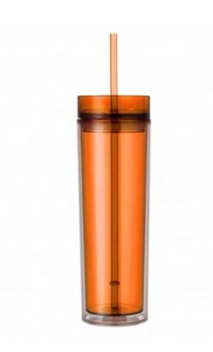 Acrylic Skinny Tumbler, Skinny Tumbler With Name, 16 oz Personalized Name Tumbler With Lid & Straw