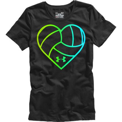Under Armour Heart Volleyball Graphic T-Shirt!