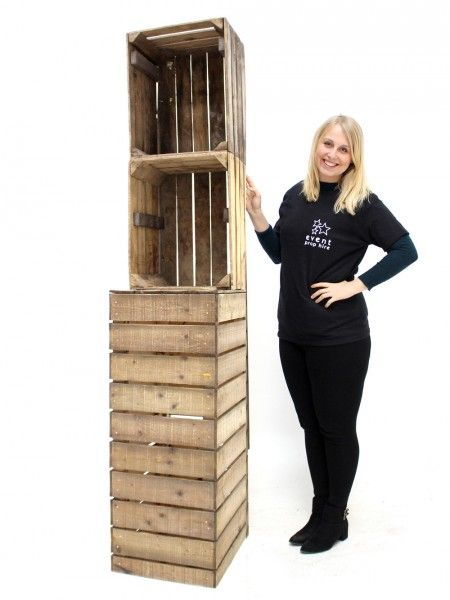 Single Crate Back Bar - 2 Shelves | Christmas - Christmas Market Theme | Event Prop Hire