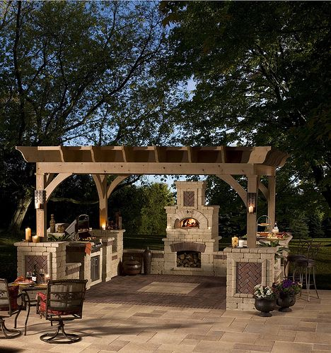 another outdoor kitchen