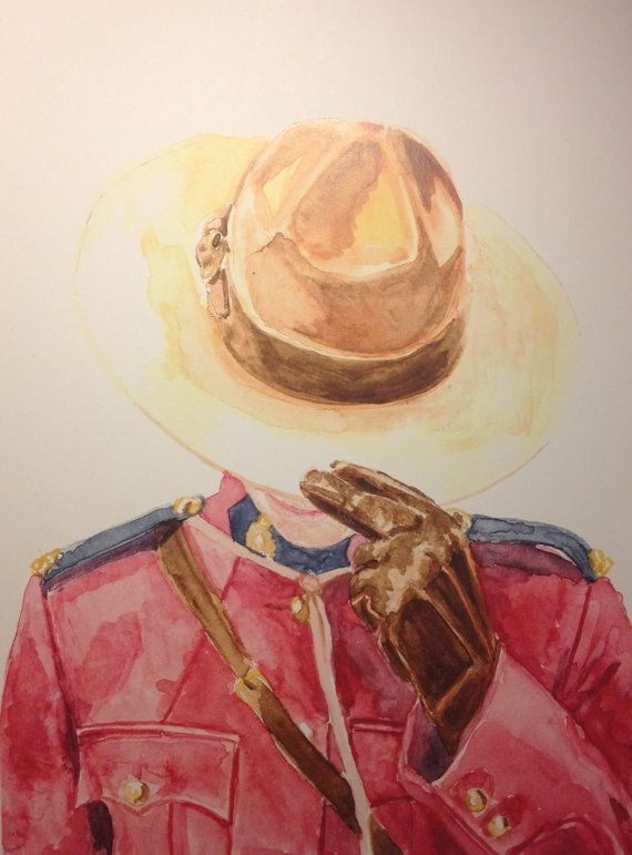 Original Mountie Painting by @Nicola MacNeil