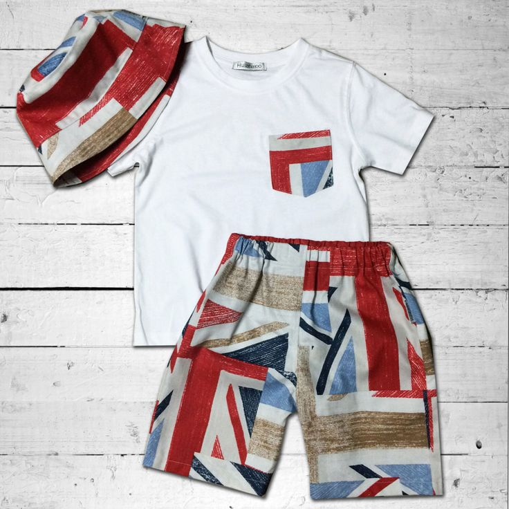 A personal favourite from my Etsy shop https://www.etsy.com/au/listing/256120581/boys-union-jack-shorts-t-shirt-and