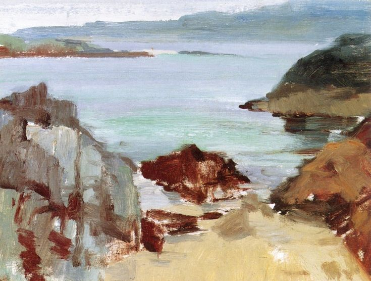 Coast of Mull and Eilean near Barra from Iona, Francis Campbell Bolleau (FCB) Cadell