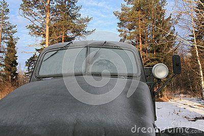Winter day on Karelian Isthmus. Russia