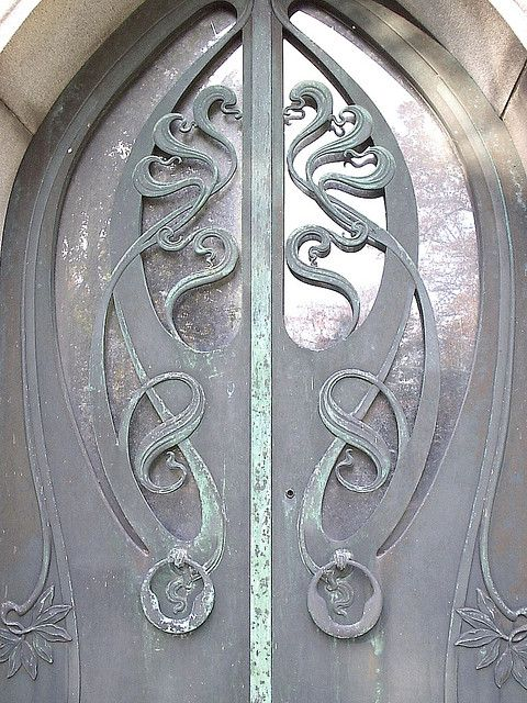 Fabulous doors on one of the mausoleums at Woodlawn.
