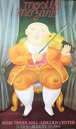 Botero, Fernando poster: Mostly Mozart 1984