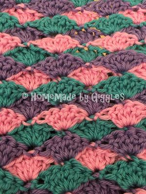 How to make this Mermaid Tail Blanket.  FREE!  Crochet pattern and video linked.  Homemade by Giggles.