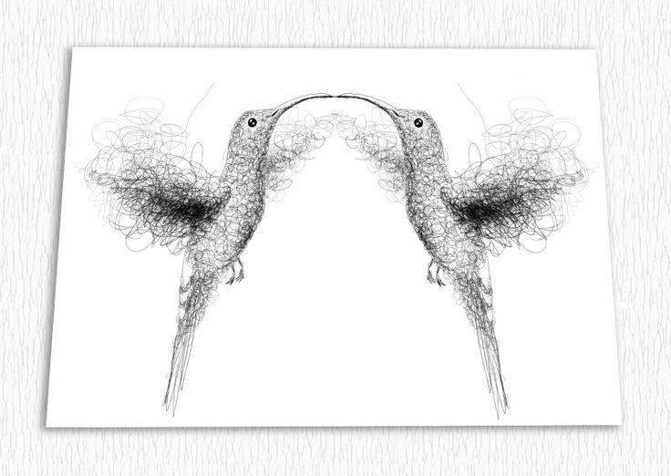 """Pohlednice - """"Láska kolibříků"""