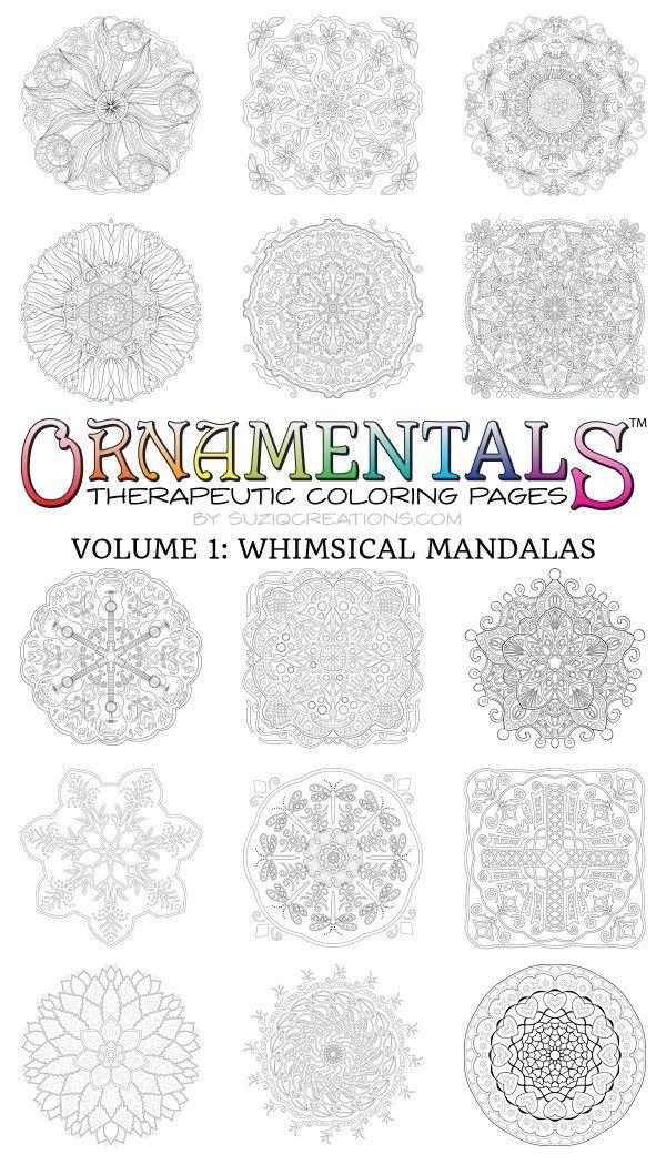 30 Whimsical Mandalas Digital Download