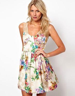 Vergrößern Love – Kleid mit Blumenmuster und Spitze
