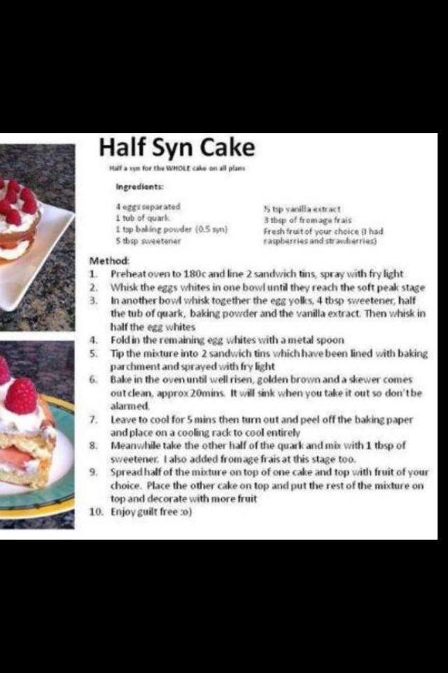 Cake 1/2 syn