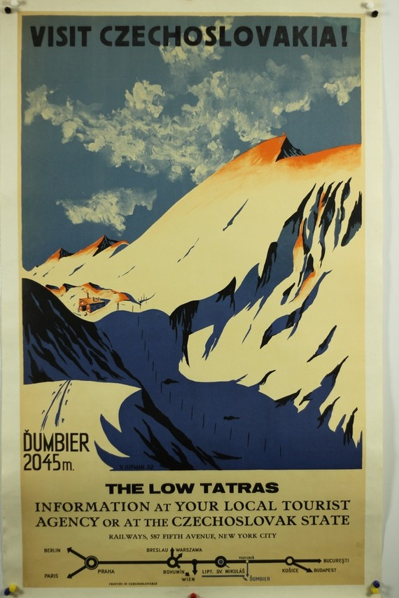 #WINTER Czechoslovakia Vintage Travel Poster