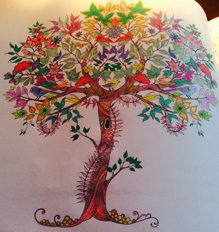 "Magical tree... From Johanna Basford ""Secret Garden"" colouring book."