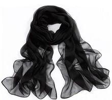 Nueva llegada de moda caliente precio venta al por mayor de la gasa de seda de la emulación Beach Solid bufanda del mantón del abrigo precioso Pashmina CCT172(China (Mainland))