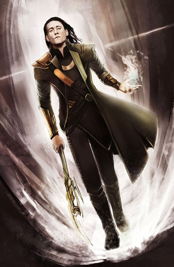 Loki by Corvidajor on deviantART: If Tom Hiddleston wanted to take over the world all he has to do is dress up as Loki. All the fan-girls, nerds, geeks, and others will retaliate against anyone who didn't kneel.