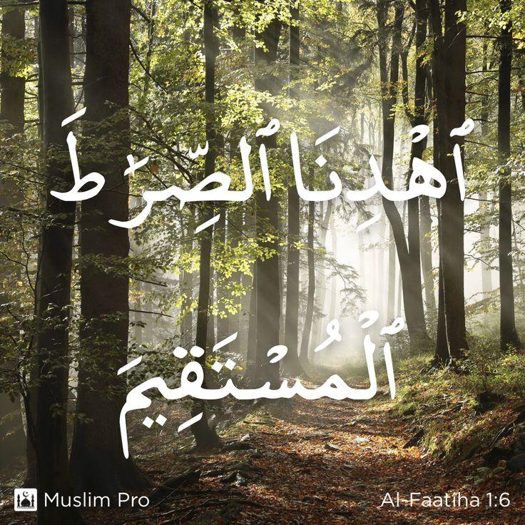 Zitat aus dem Heiligen Koran, Al-Faatiha (1:6) #muslimpro http://www.muslimpro.com/dl