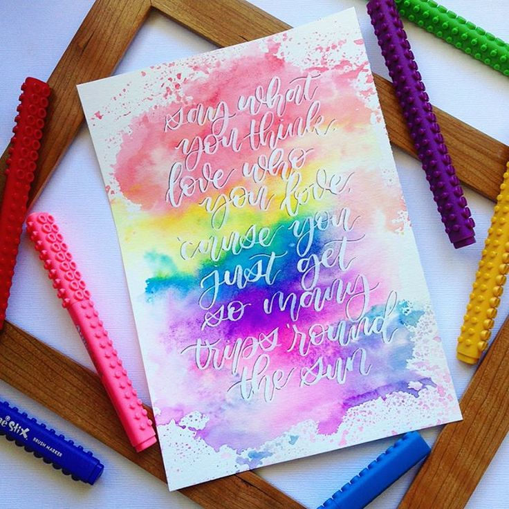 """691 Likes, 19 Comments - Alyssa Robinson (@lyssletters) on Instagram: """"""""Follow Your Arrow"""" by Kacey Musgraves for #shuffleplayletter (hosted by my calligrabesties,…"""""""