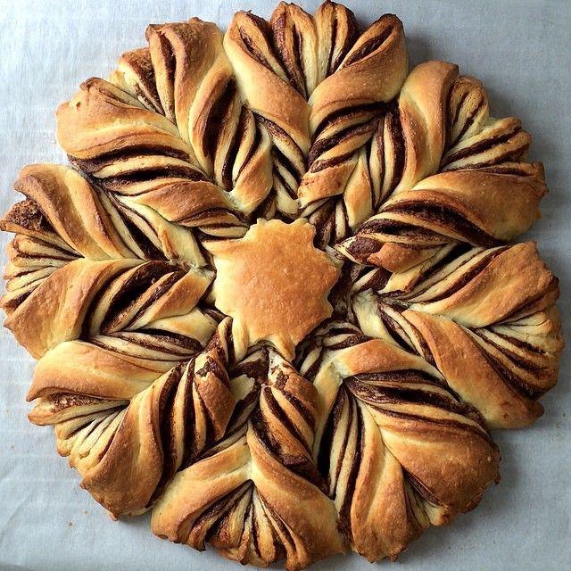 Fiore di pan brioche con nutella!