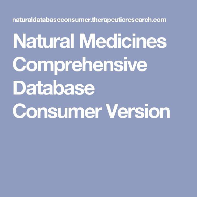 Natural Medicines Comprehensive Database Consumer Version