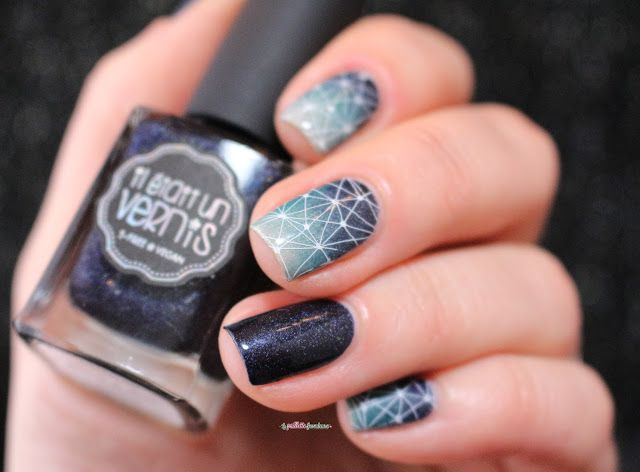 Gradient Stamping ~ with Il �tait un vernis '#ladykiller', '#iamanatural' and '#monsieurjetaime' ~ MoYou London Enchanted plate 16 ~ by La Paillette Frondeuse