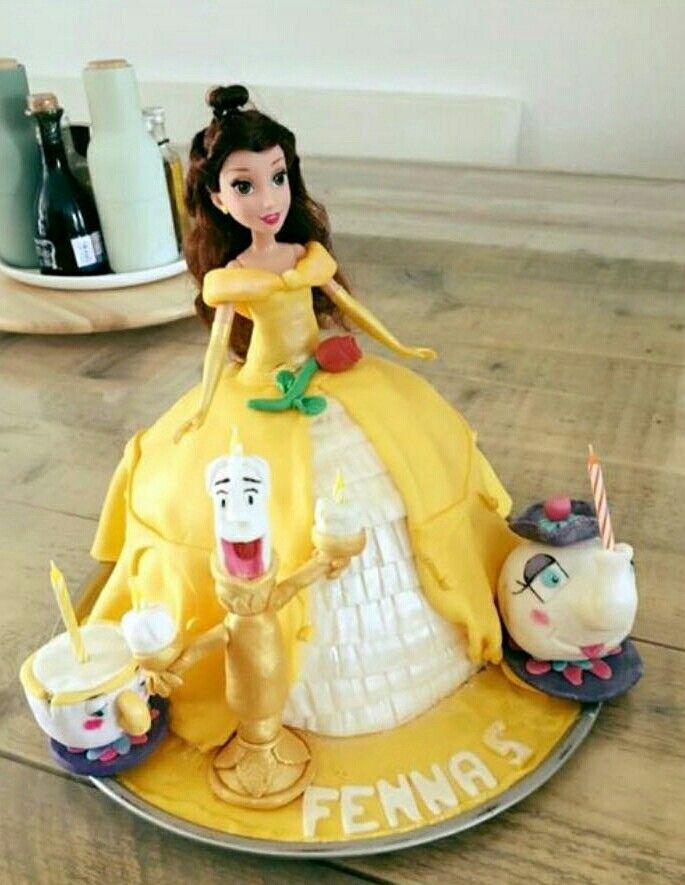 Belle en het beest verjaardag taart!