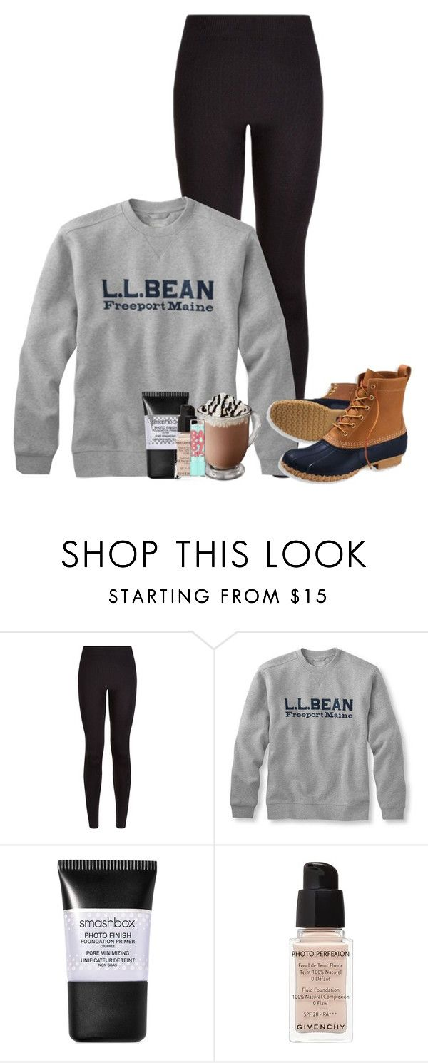 """""""night y'alltired from two basketball games today"""" by lydia-hh ❤ liked on Polyvore featuring moda, L.L.Bean, Smashbox, Givenchy, Maybelline, women's clothing, women's fashion, women, female y woman"""