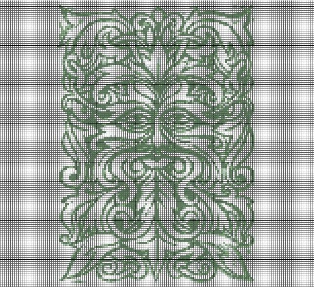 Green Man Cross Stitch Pattern. #craft #pagan #cross stitch #green man #god                                                                                                                                                                                 More