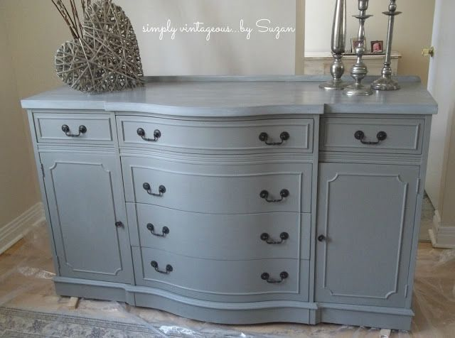 Buffet Before and After! – Custom job for a customer – who was torn between getting rid of her antique dining room set ( inherited from a beloved Aunt – or chan…