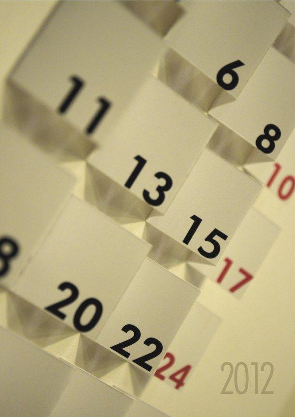 Calendar Design 2012 http://www.behance.net/gallery/Calendar-Design-2012/7586301