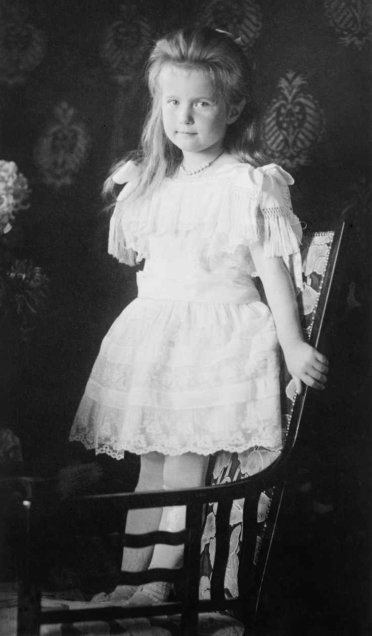 Grand Duchess Anastasia in a formal portrait taken in 1906