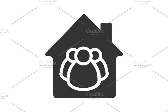 Family house glyph icon #cooperative #group