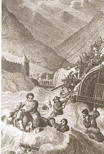 """Die verhaal van Wolraad Woltemade is waarskeinlik ook die verhaal van ons land se eerste heldedaad.  Hierdie gebeurtenis het plaasgevind 120 jaar na die stigting van die verversingstasie aan die Kaap. Die Kaap wat toe reeds bekend gestaan het as """"Die Kaap van Storms"""" ... De Jonge Thomas, 'n Oos-Indiese skip, het op Sondag, 30 Mei 1773 in 'n hewige storm beland in Tafelbaai. Vir 'n dag en 'n nag het die storm in woede toegeneem, sodat die ankertoue later een vir een gebreek het."""