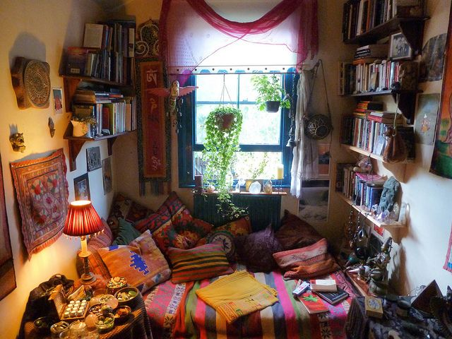 I cleaned up my den today by goddessofxanadu via flickr for Living room ideas hippie