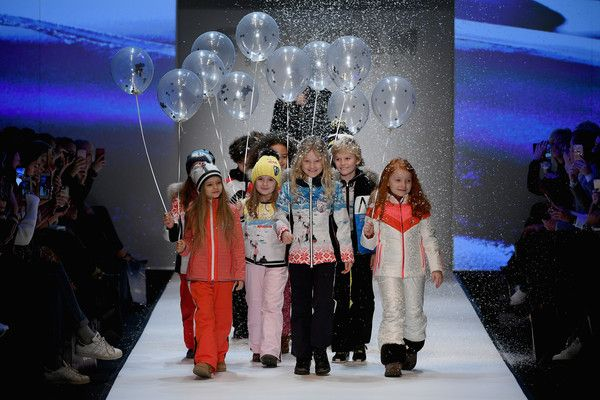 Young models walk the runway at the Sportalm show during the MBFW Berlin January 2018 at ewerk on January 17, 2018 in Berlin, Germany.