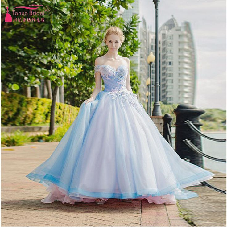 Cheap Online Shop China Buy Quality Wedding Dresses Directly From Beach Dress Suppliers Romantic Sky Blue Off Shoulder