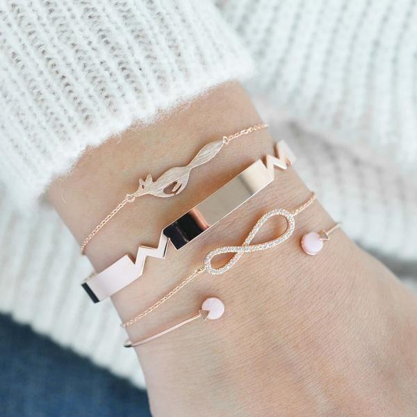 Running Fox Rose Gold Bracelet