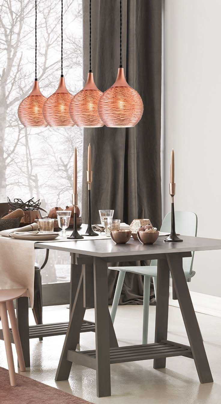 Φωτιστικό κρεμαστό, τετράφωτο, σε μοντέρνο στυλ, με μαύρη ανάρτηση με χάλκινες λεπτομέρειες και γυαλί σφαιρικό ανάγλυφο σε χάλκινο χρώμα! Pendant luminaire/light, in modern style, with bronze glass! #bronze  #bronzelighting #chic #livingroomideas #homeideas #light